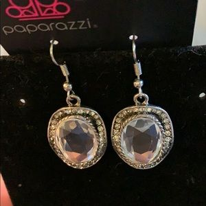 Round white Rhine Stone Bliss Earrings